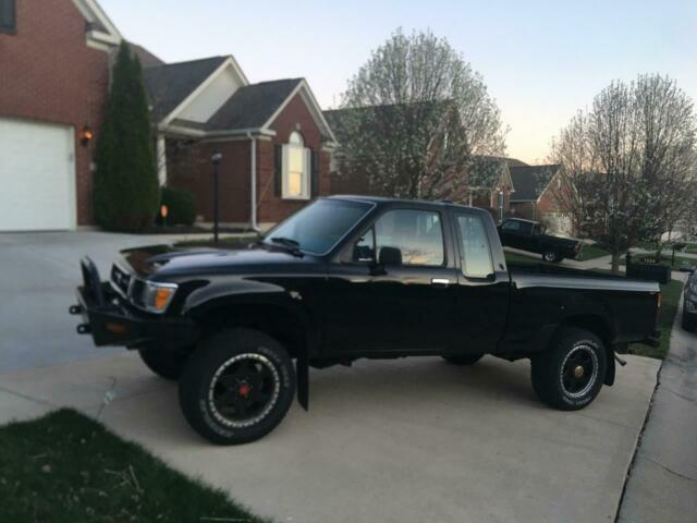 1994 Black Toyota Pickup Standard Cab Pickup with Blue interior