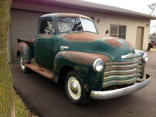 Barn Find 1950 Chevrolet 3100 1 2 Ton Pickup Truck 1947 1951 1955 3600 Rat Rod