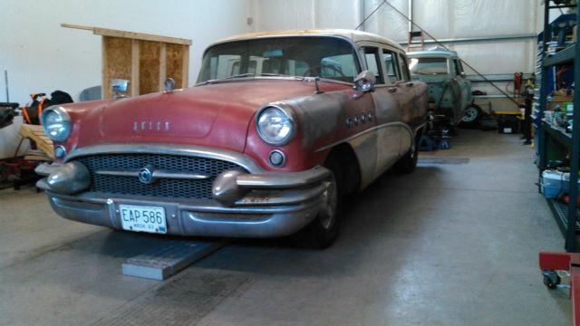 Barn Find 1955 Buick Century Wagon Rat Rod 99 Rust Free