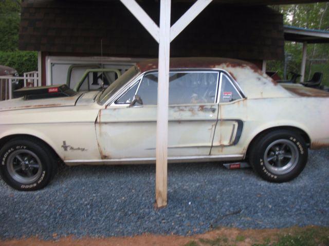 BARN FIND 1968 FORD MUSTANG 289 MANUAL TRANS ORIGINAL CAR NORTH CAROLINA