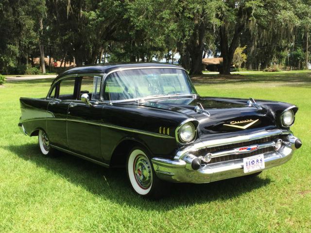 Beautiful 1957 chevrolet chevy bel air 4 door sedan resto for 1957 chevy 2 door sedan