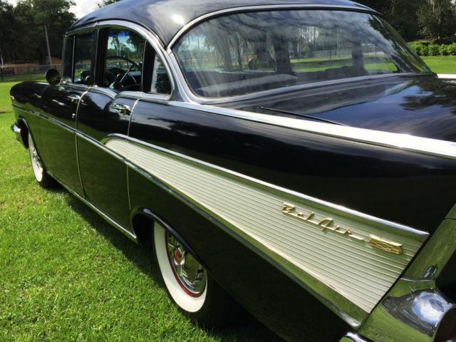 Beautiful 1957 chevrolet chevy bel air 4 door sedan resto for 1955 chevy belair 4 door value
