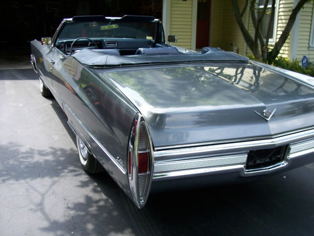 beautiful 1968 cadillac deville convertible gray blue leather all. Black Bedroom Furniture Sets. Home Design Ideas