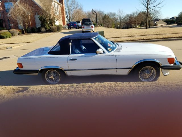 Beautiful classic1986 MBenz 560sl convertible with rare wire wheets ...