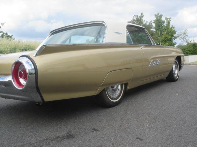 1963 Castillian Gold Ford Thunderbird Hardtop Coupe with Beige interior