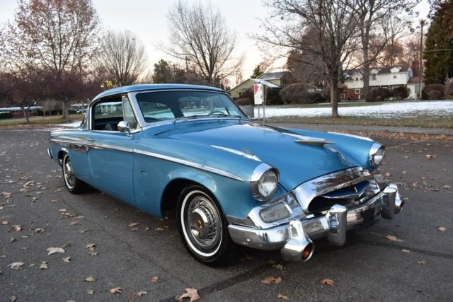1955 Blue Studebaker Coupe with Black interior
