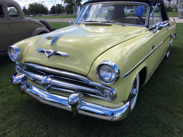 1954 yellow / black Dodge Royal 500  Indy Pace Car Convertible 2 door with yellow / black interior
