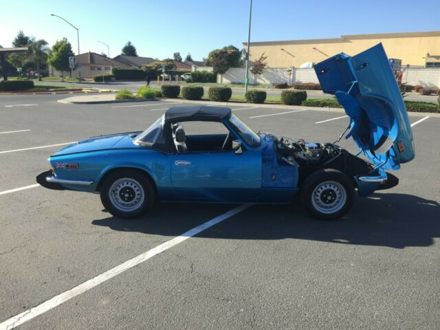 1974 Blue Triumph Spitfire Convertible with All new Black interior