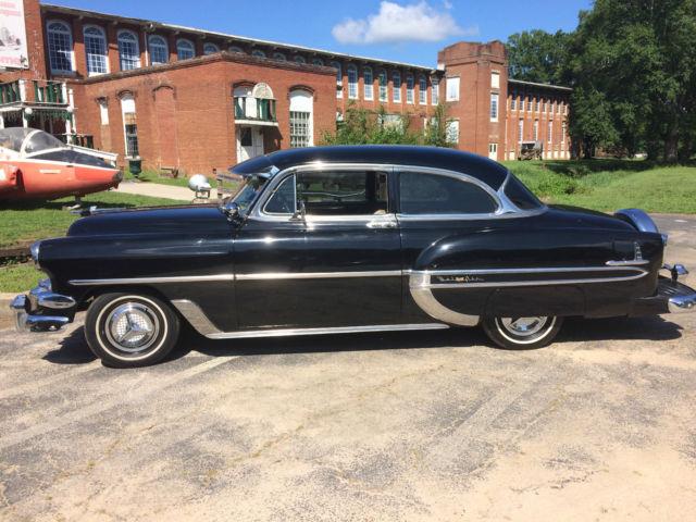 black 1954 chevy bel air classic cars for sale photos technical specifications description. Black Bedroom Furniture Sets. Home Design Ideas