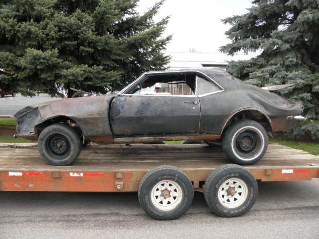 1968 Chevrolet Camaro Black Rally Sport 4 Speed Very Solid Lower Body