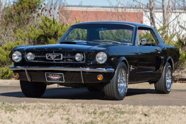 1965 Black Ford Mustang -- Coupe with Black interior