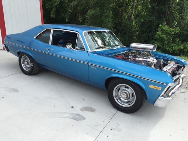 Blown 1971 Chevy Ii Chevrolet Nova Blower Supercharger