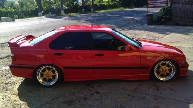 Bmw E36 318i Red New Paint Bbs Rt 8j Front 9j