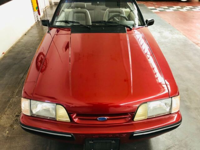1991 Red Ford Mustang LX 5.0-SEE VIDEO Convertible with Gray interior
