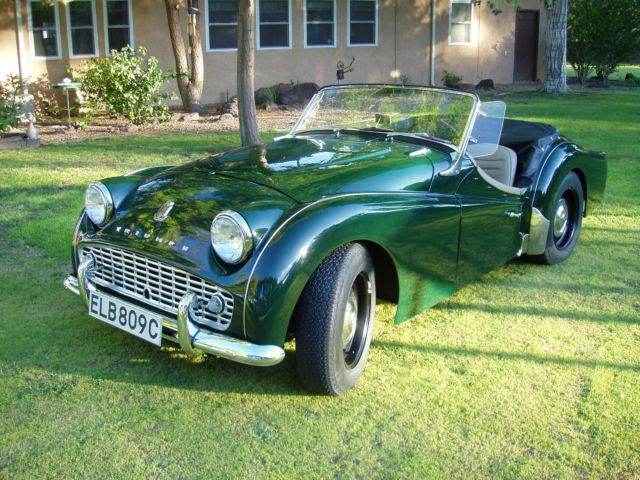 1961 Triumph TR3 British Racing Green over Biscuit