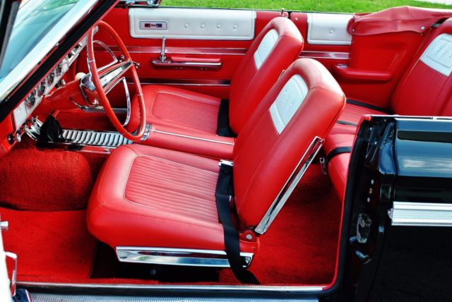 1964 Black Plymouth Fury Convertible with Red interior