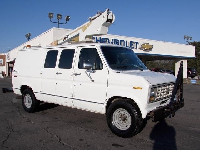 bucket truck van used for sale boom cargo white i6 gas engine custom armlift for sale photos. Black Bedroom Furniture Sets. Home Design Ideas