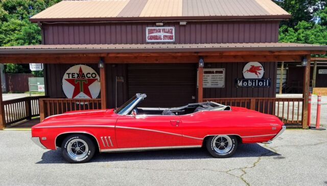 1969 Red Buick Skylark -LESS THAN 6600 EVER BUILT-CUSTOM MODEL- Convertible with Black interior