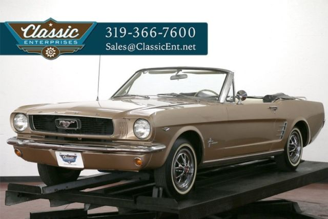 1966 Ford Mustang Manual transmission rare color combination solid