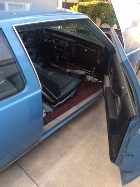 1978 Blue Cadillac DeVille Coupe with Black interior
