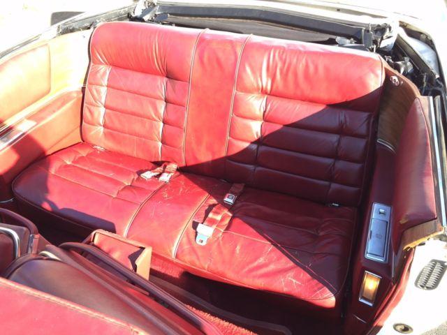 Cadillac Eldorado White Convertible Red Interior