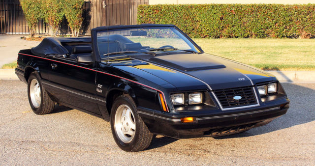 1983 Ford Mustang GT Convertible, 43k Orig Miles, 5 Spd