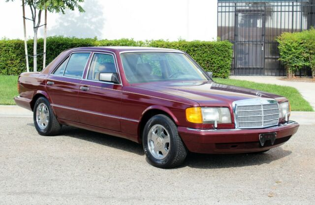 1990 Burgundy Mercedes-Benz 300-Series 300SE, W126, 100% Rust Free(833)225-4227 Sedan with Tan interior
