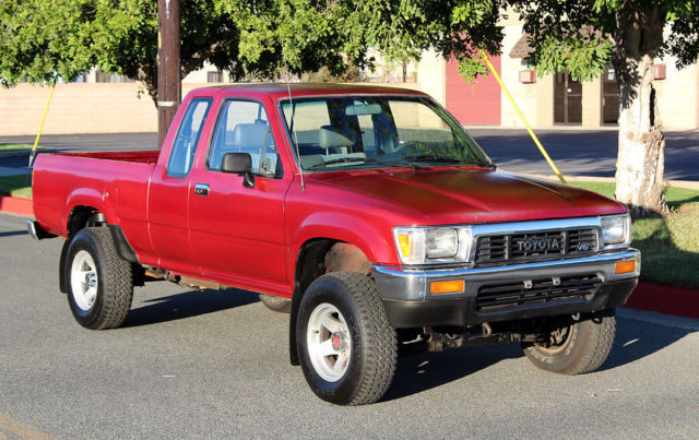 california original 1990 toyota pickup 4x4 one owner 5spd 100 rust free a for sale. Black Bedroom Furniture Sets. Home Design Ideas