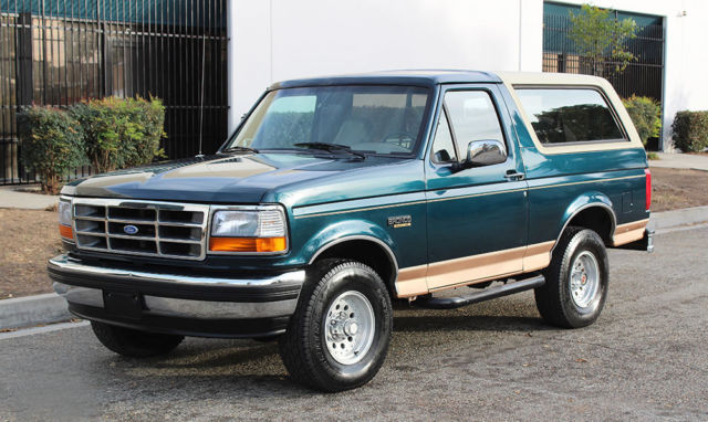 1994 Ford Bronco Eddie Bauer, One Owner California SUV