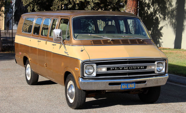"1976 Plymouth Voyager ""Sport"" 14 Passenger, One Owner California Van"