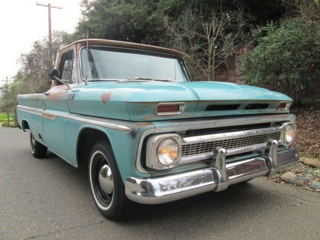 1965 Chevrolet C-10 Custom 283 A/T A/C Big Back Window No Rust