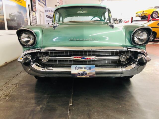 1957 Green Chevrolet Bel Air/150/210 383 V8 Great Driving Classic 2 Door with Green interior