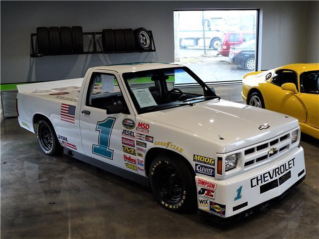 Lowered Silverado For Sale >> Chevrolet S-10 Nascar Replica Tribute Race Truck White 350 V8 lowered Custom s10 for sale ...