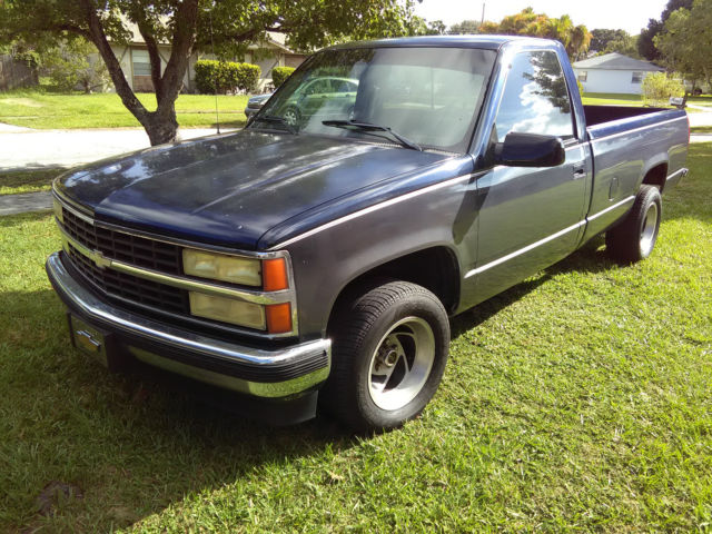 Chevy 1990 1500 silverado two door 350 5 7 liter truck c k no reserve