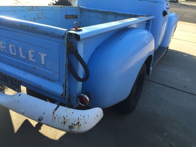 1954 Blue Chevrolet Other Pickups Standard Cab Pickup with Black  interior