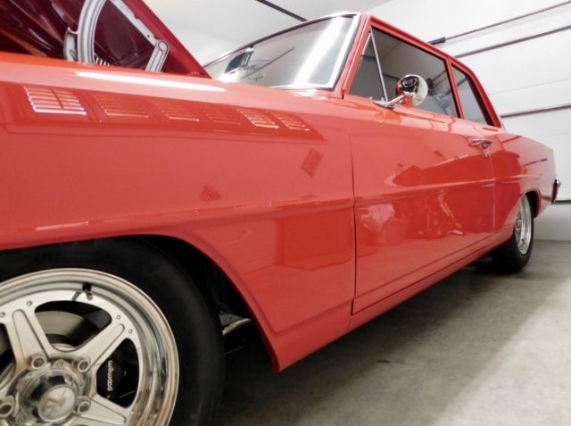 1966 Red Chevrolet Nova with Off-White interior
