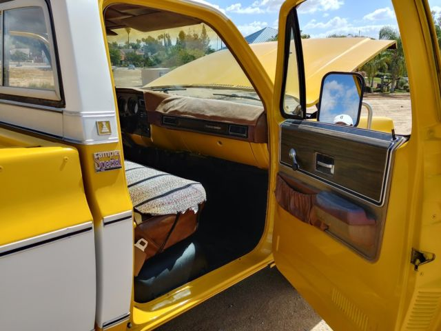 CHEYENNE C20 CAMPER SPECIAL FACTORY 454 SQUARE BODY 2 TONE ...
