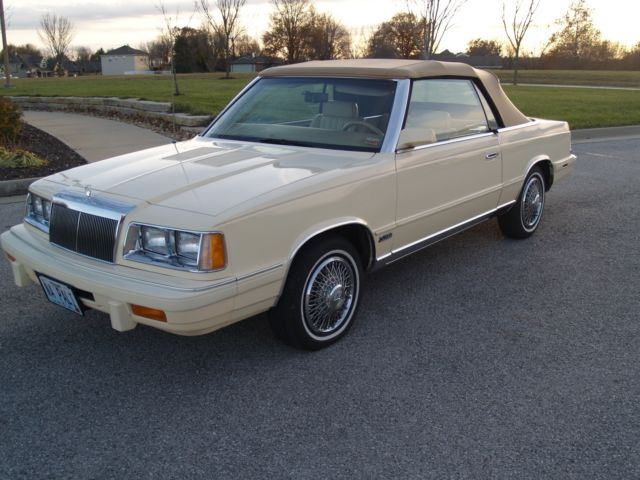 Chrysler Lebaron Convertible Mark Cross Edition