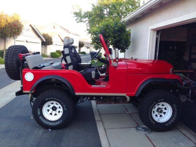 CJ 5 Red Kevlar Body Ground Up Restore Super Stock Beauty ...