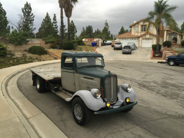 1935 GMC Hot Rod flat bed chevy dually subframe