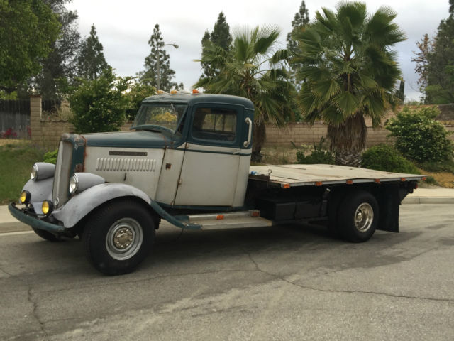 Gmc Truck Beds For Sale >> Classic 1935 GMC Dulley Flat Bed Pickup sitting on a Hot ...