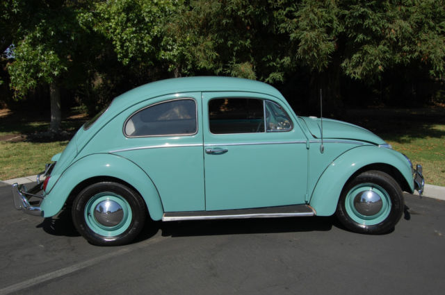 Classic 1963 Vw Beetle 2 Door New Teal Green Paint