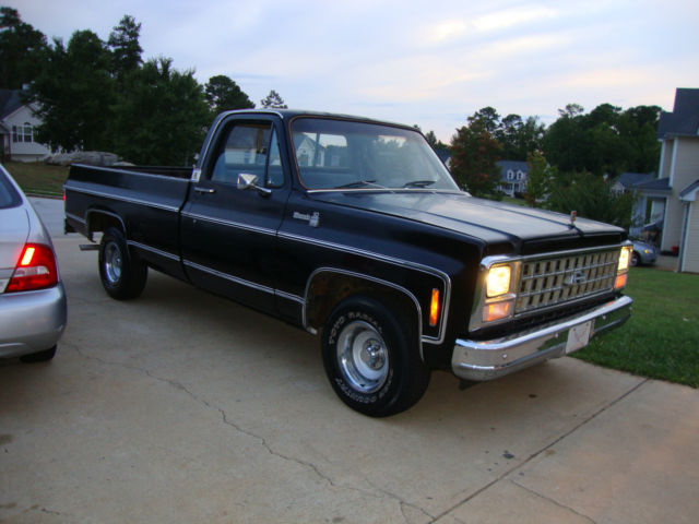 classic 1980 chevrolet chevy c10 c 10 silverado long bed pickup truck videos for sale photos. Black Bedroom Furniture Sets. Home Design Ideas