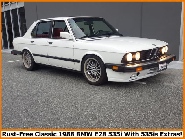 classic 1988 bmw 535i 99 9 rust free california e28 with 535is extras for sale photos. Black Bedroom Furniture Sets. Home Design Ideas