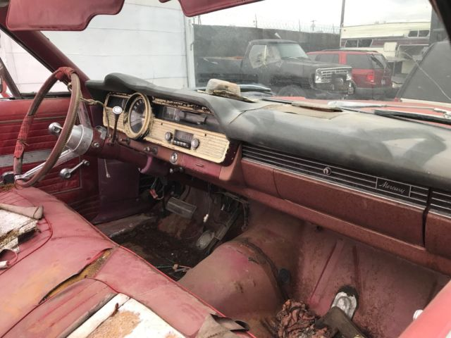 1967 Red Mercury Monterey Convertible with Red interior