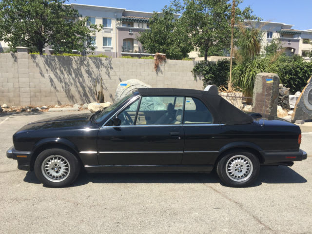 Classic Bmw 5 Speed Manual 1 Owner Convertible Black California Topless Lady For Sale Photos Technical Specifications Description