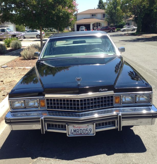 1993 Cadillac Brougham For Sale: CLASSIC Cadillac 1978 Fleetwood Brougham -BLACK- Near Mint Cond