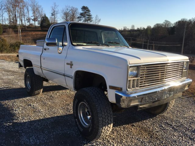 Classic Chevy Trucks White 1983 C10 4x4 With 3 Inch Lift