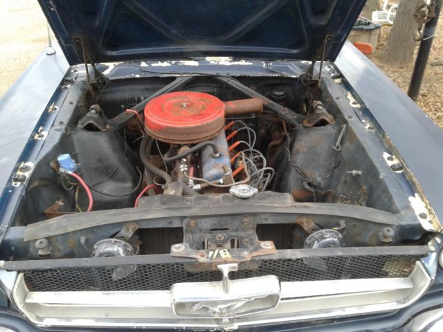 1965 Blue Ford Mustang good condition with Black interior