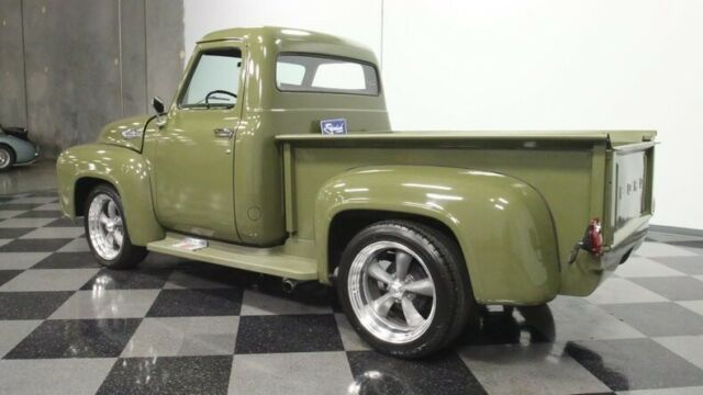 1954 Olive Drab Ford F-100 Pickup Truck with Black interior